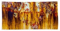 Yellow Rust Beach Towel