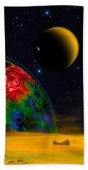 Yellow Sea On Kepler 186d Beach Towel