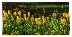 Yellow Spring Fever Beach Towel