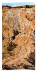 Beach Towel featuring the photograph Yellow Stone National Park Abstract by Mae Wertz