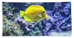 Yellow Tang Beach Towel