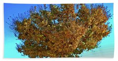 Yellow Tree Blue Sky Beach Towel by Matt Harang