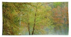 Beach Towel featuring the photograph Yellow Trees by Iris Greenwell