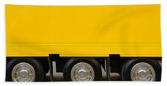Yellow Truck Beach Towel by Carlos Caetano