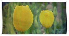 Yellow Tulip Art Beach Sheet