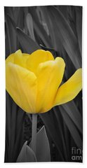 Yellow Tulip Beach Towel