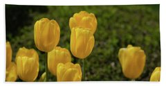 Yellow Tulips Beach Towel