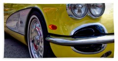 Yellow Vette Beach Towel