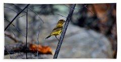 Yellow Warbler 2 Beach Towel
