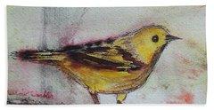 Yellow Warbler Beach Towel