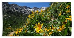 Yellow Wildflowers Beach Sheet