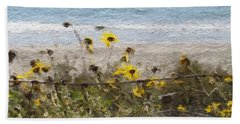 Yellow Wildflowers- Art By Linda Woods Beach Towel