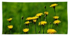 Yellow Wildflowers Beach Towel