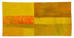 Yellow With Orange Beach Towel