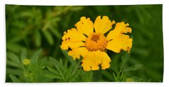 Yellow Zinnia Beach Towel