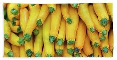 Yellow Zucchini Beach Towel