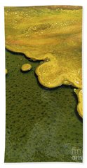 Yellowstone Art. Yellow And Green Beach Towel