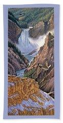 Yellowstone Canyon-osprey Beach Towel by Paul Krapf