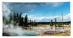 Beach Towel featuring the photograph Yellowstone Colors #1 by Scott Read