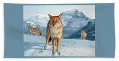 Yellowstone Coyotes Beach Towel by Paul Krapf