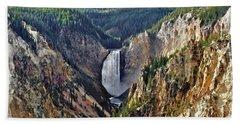 Yellowstone Falls Seen From Artist Point Beach Sheet