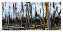 Yellowstone Fire Beach Towel