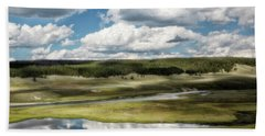 Yellowstone Hayden Valley National Park Wall Decor Beach Towel