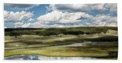 Yellowstone Hayden Valley National Park Wall Decor Beach Sheet