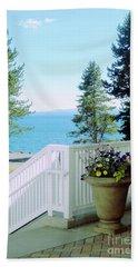 Yellowstone Lake Beach Towel by Ann Johndro-Collins