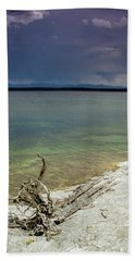 Yellowstone Lake Beach Towel by Dawn Romine