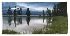 Yellowstone Lake Reflection Beach Towel