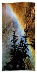 Beach Towel featuring the photograph Yellowstone Rainbow by Norman Hall