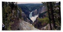 Yellowstone Water Fall Beach Towel
