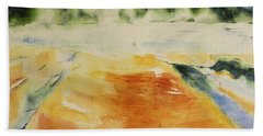 Yellowstone, Watercolor Gift, Souvenir  Beach Towel by Geeta Biswas