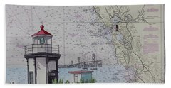 Yerba Buena Island Lighthouse Beach Towel