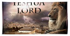 Yeshua Is Lord Beach Sheet by Bill Stephens