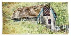 Beach Sheet featuring the photograph Yesteryear Barn by Jean OKeeffe Macro Abundance Art