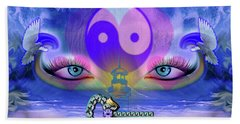 Yin Yang Key To Peace #190 Beach Towel