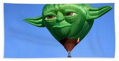 Yoda In The Sky Beach Towel