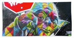 Yoda - Stop Wars Beach Sheet