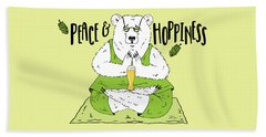 Yoga Beer Bear Beach Sheet