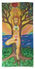 Yoga Tree Pose Beach Towel