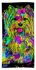 Yorkie Beauty Beach Sheet
