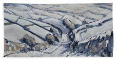 Yorkshire In The Snow Beach Towel