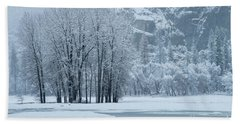 Beach Towel featuring the photograph Yosemite - A Winter Wonderland by Sandra Bronstein