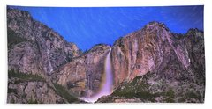 Yosemite At Night Beach Towel