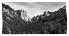 Yosemite B/w Beach Towel