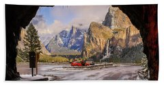 Beach Towel featuring the photograph Yosemite Christmas  by Duncan Selby
