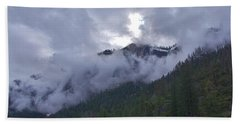 Beach Towel featuring the photograph Yosemite Clouds Bbbbbbbbbbbb by Phyllis Spoor