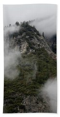 Beach Towel featuring the photograph Yosemite Clouds by Phyllis Spoor